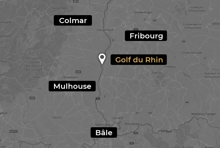 Localisez le golf du Rhin sur Google Map
